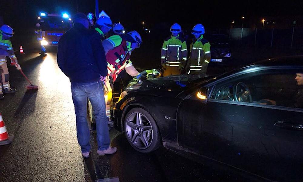 Verkehrsunfall mit zwei PKW
