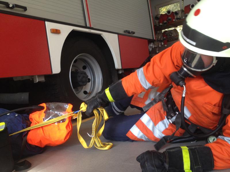 Übung des Rettungstrupps